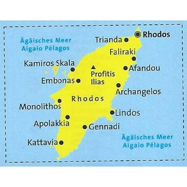 Rhodos Graekenland Kort Kompass Nordisk Korthandel