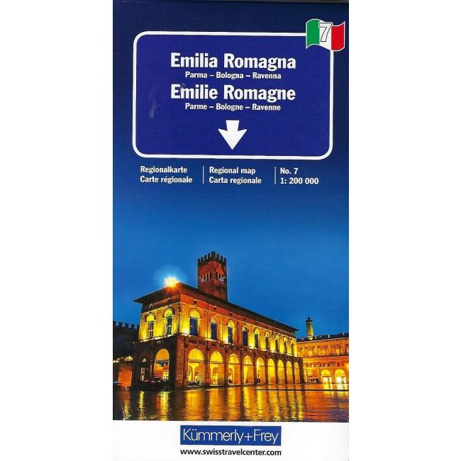 Emilia Romagna Italien Kort Kummerly Frey Nordisk Korthandel