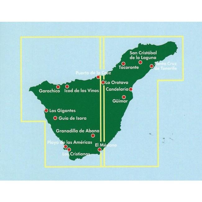 Tenerife Spanien Kort Freytag Berndt Nordisk Korthandel