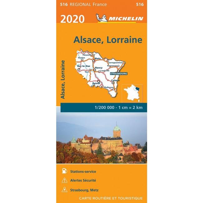 Alsace Lorraine Frankrig Kort Michelin Nordisk Korthandel