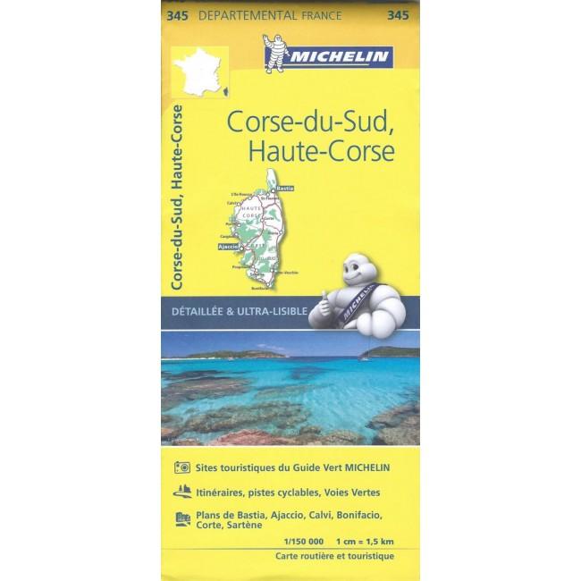 Corsica Frankrig Kort Michelin Nordisk Korthandel
