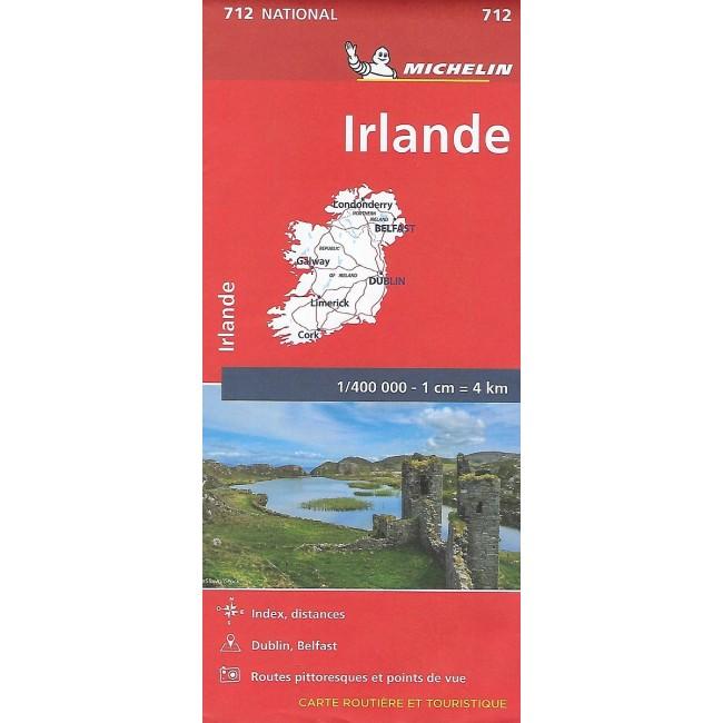 Ireland Irland Kort Michelin Nordisk Korthandel