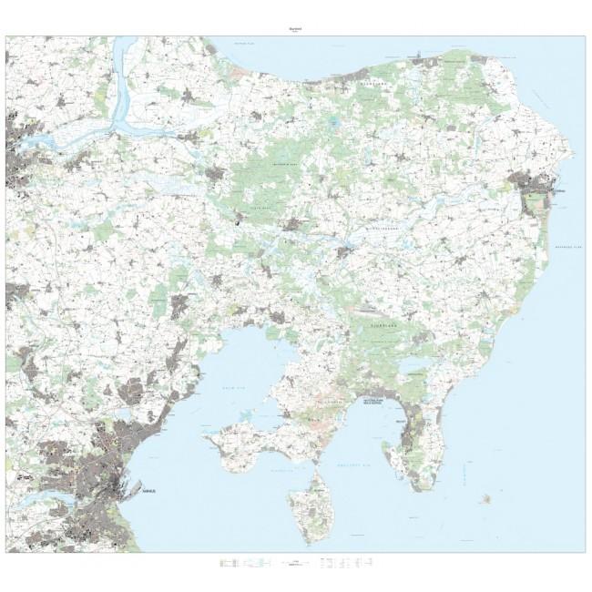 Djursland 1 25 000 Danmark Vaegkort Nordisk Korthandel