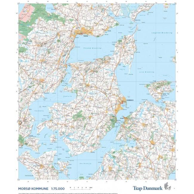 Trap Danmark Kort Over Morso Kommune Danmark Vaegkort Trap