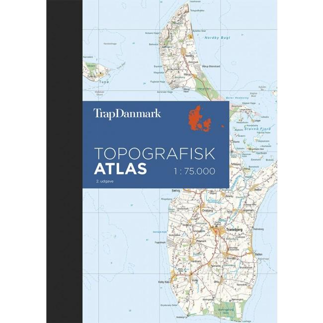 Topografisk Atlas Danmark Danmark Kort Trap Danmark A S