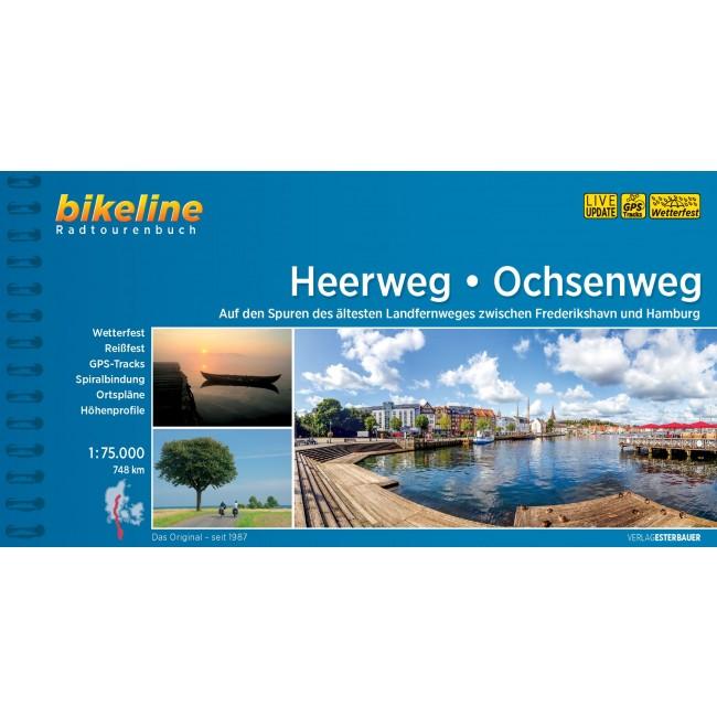 Kort over Hærvejen - Heerweg/Ochsenweg (von Viborg nach Hamburg)