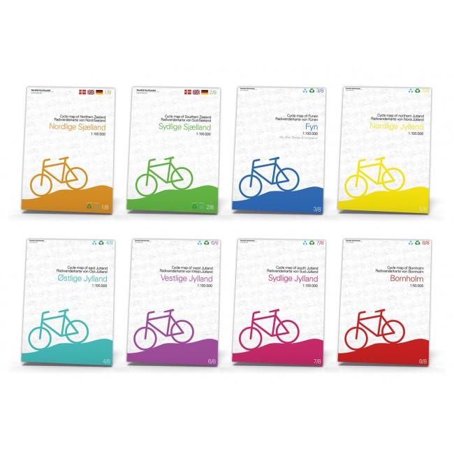 8 Cykelkort for Danmark fra Nordisk Korthandel