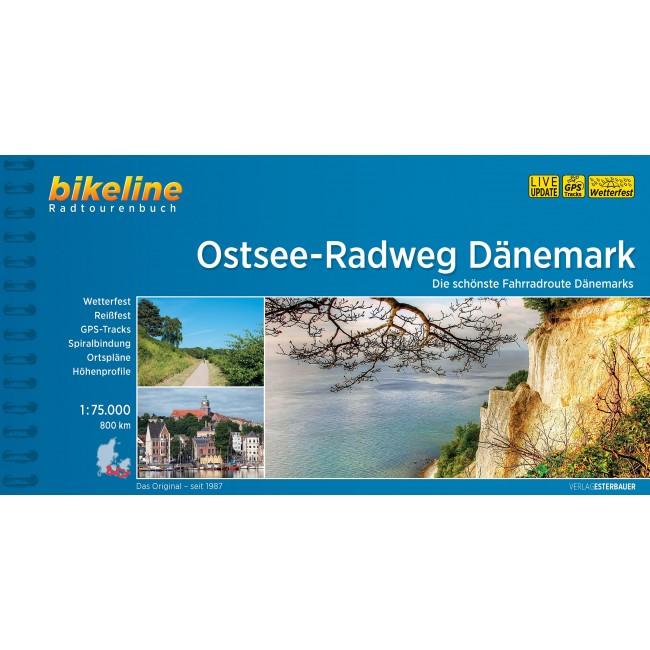 Kort over Nationalrute 8. Der Ostsee-Radweg - Dänemark