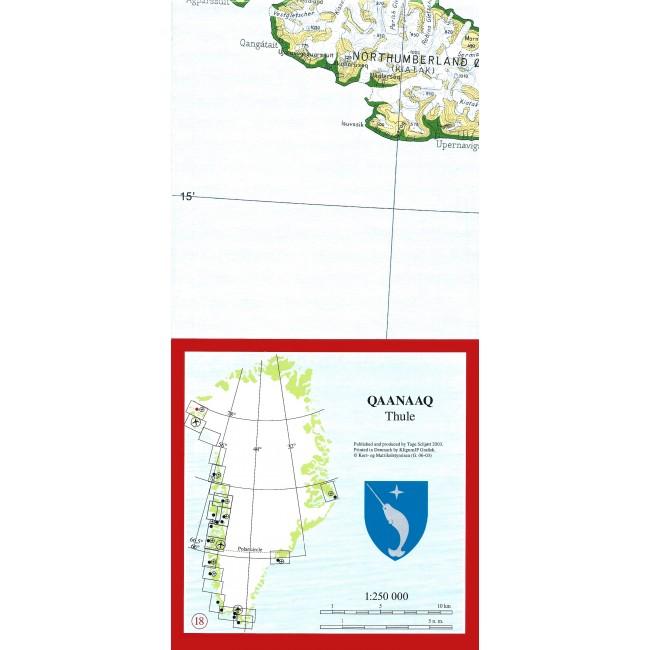 Qaanaaq Thule Gronland Kort Tage Schjott Nordisk Korthandel
