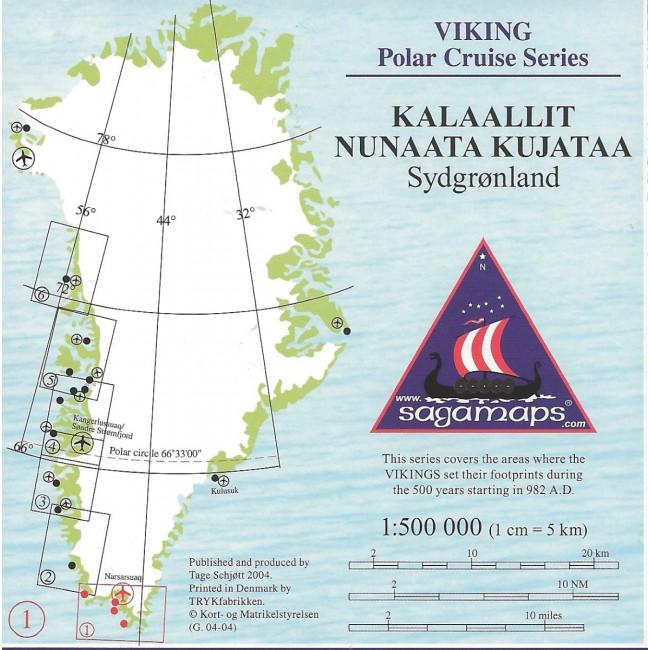 Kalaallit Nunaata Kujataa Sydgronland Gronland Kort Tage