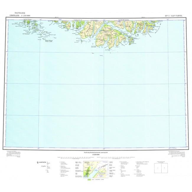 Kap Farvel 59 V1 Kms Gronland Kort Geodatastyrelsen