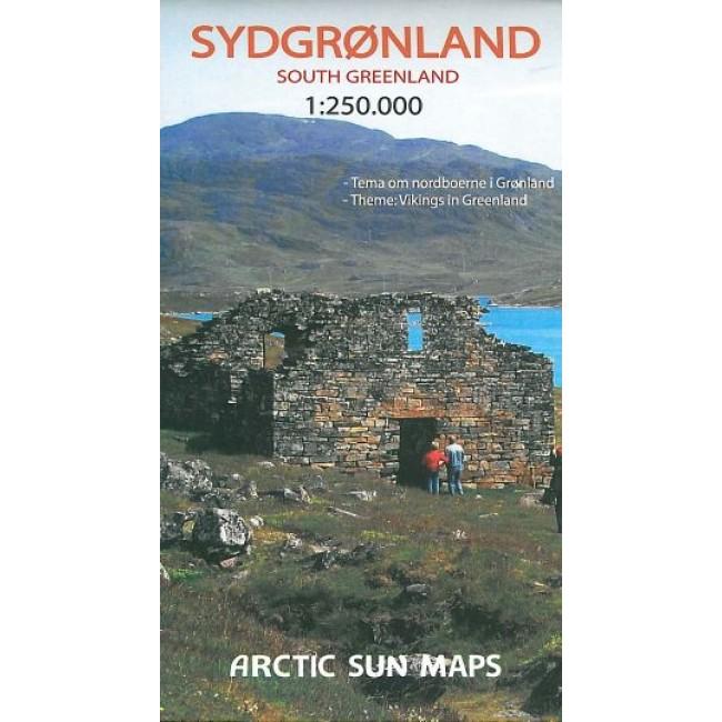 Sydgronland South Greenland Gronland Kort Arctic Sun Maps