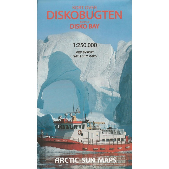 Diskobugten Gronland Kort Arctic Sun Maps Nordisk Korthandel