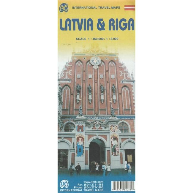 Latvia Riga Letland Kort Itmb Publishing Ltd Nordisk