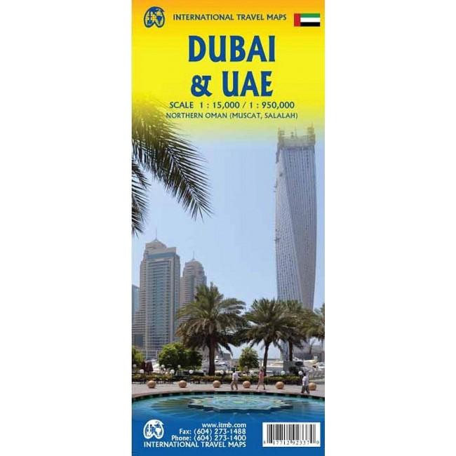 Dubai Uae Northern Oman Forenede Arabiske Emirater Kort