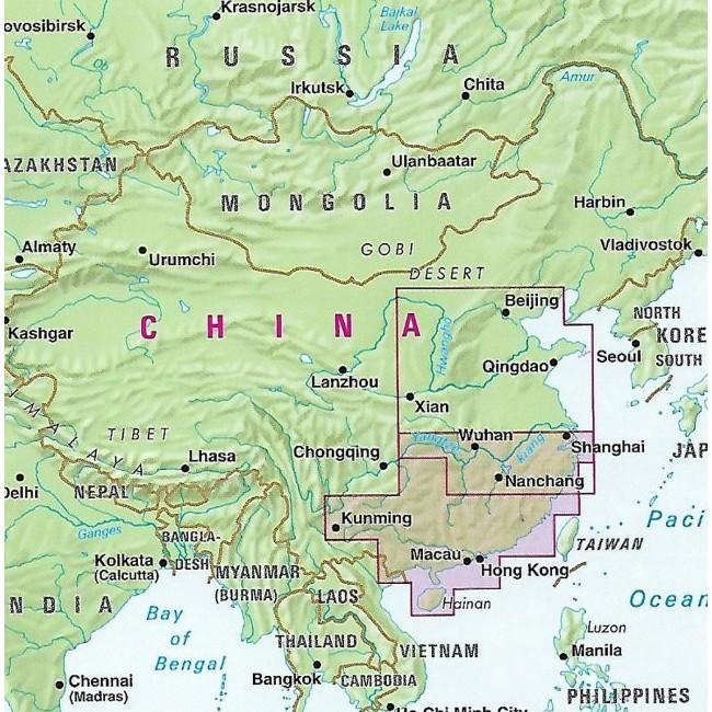 China South Kina Kort Nelles Verlag Nordisk Korthandel
