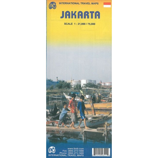 Jakarta Indonesien Kort Itmb Publishing Ltd Nordisk