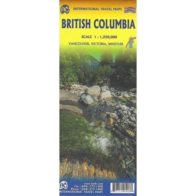 British Columbia Canada Kort Itmb Publishing Ltd Nordisk