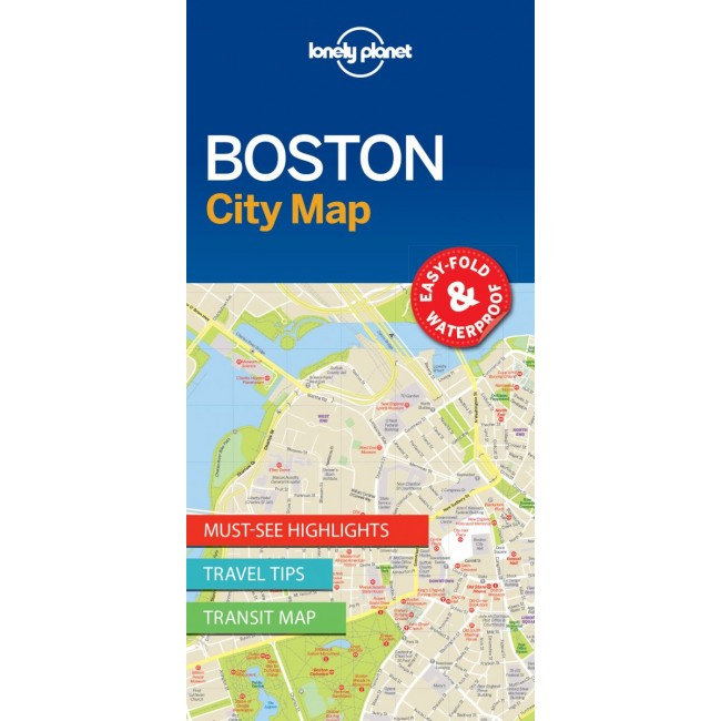 Boston City Map Usa Kort Lonely Planet Nordisk Korthandel