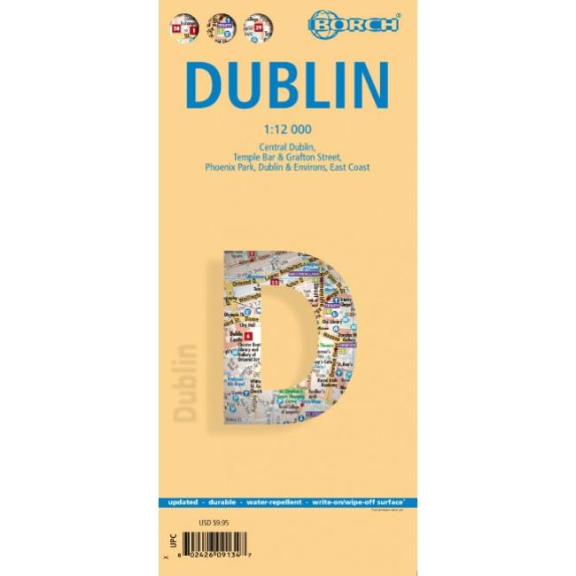 Dublin Irland Kort Borch Nordisk Korthandel