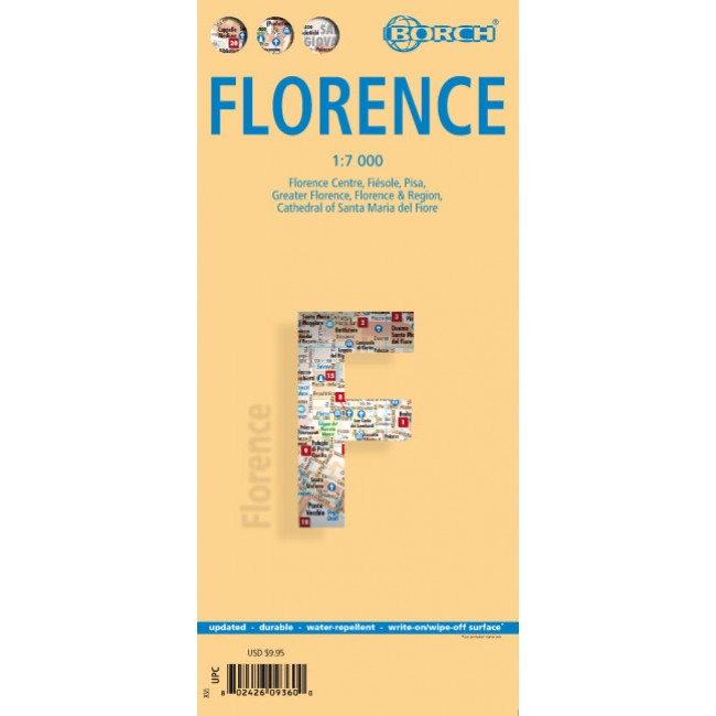 Firenze Florence Italien Kort Borch Nordisk Korthandel