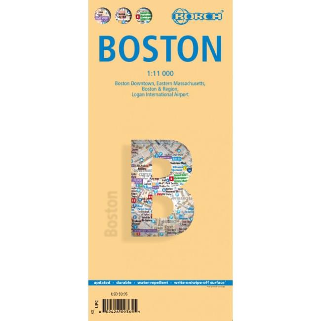 Boston Usa Kort Borch Nordisk Korthandel