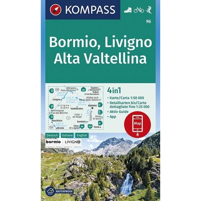 Bormio Livigno Valtellina Italien Kort Kompass Nordisk