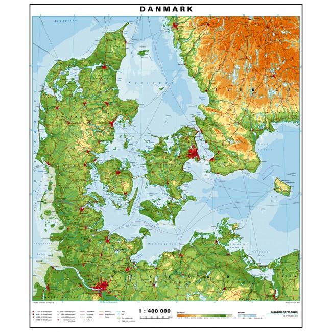 Danmark Danmark Vaegkort Nordisk Korthandel Nordisk Korthandel