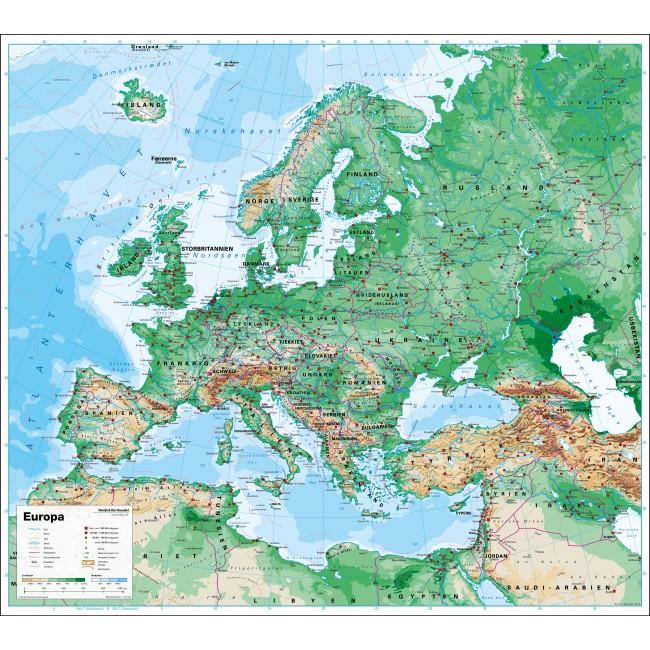 Europa Vaegkort Nordisk Korthandel Nordisk Korthandel