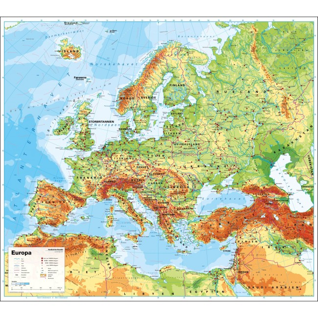 Denmark Map Europe Map Of Europe Showing Denmark Northern