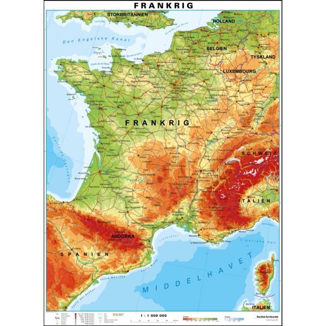 Frankrig Frankrig Vaegkort Nordisk Korthandel Nordisk