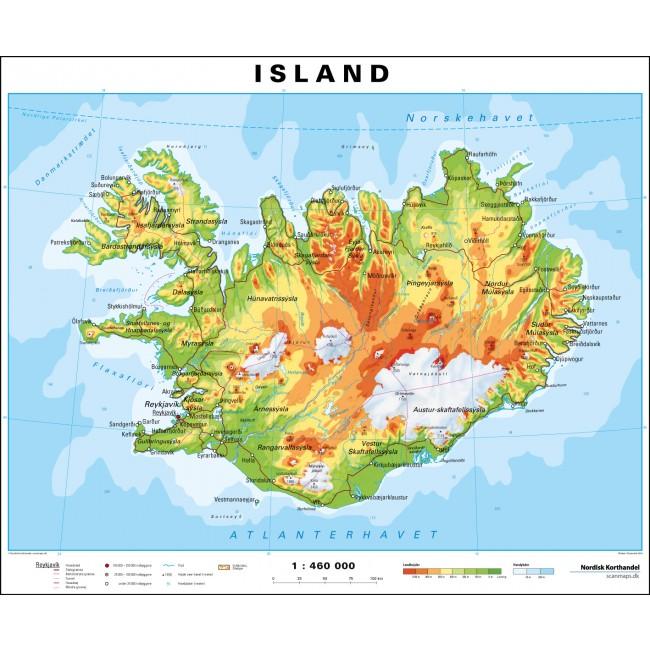 Island Island Vaegkort Nordisk Korthandel Nordisk Korthandel