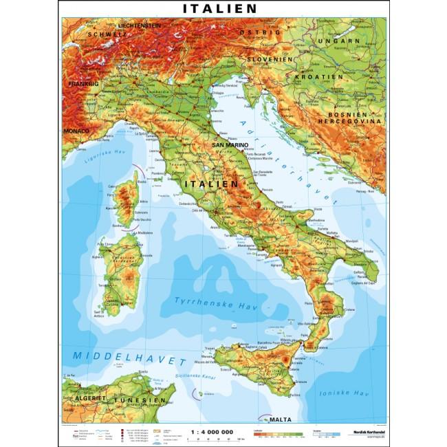Italien Italien Vaegkort Nordisk Korthandel Nordisk Korthandel