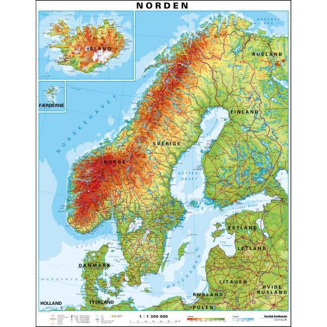 Norden Vaegkort Nordisk Korthandel Nordisk Korthandel