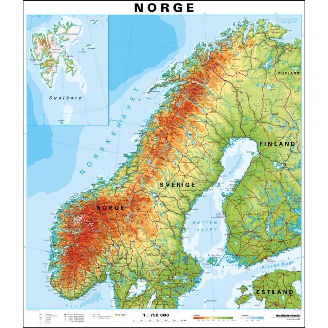 Norge Vaegkort Nordisk Korthandel Nordisk Korthandel
