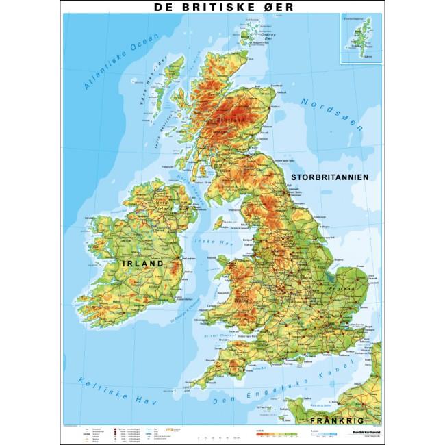 De Britiske Oer England Vaegkort Nordisk Korthandel Nordisk
