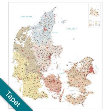 Danmark Postnumre Tapet