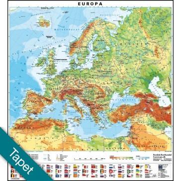 Europa med flag  Tapet