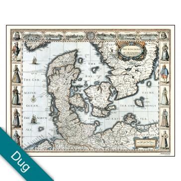Danmark år 1626 Voksdug