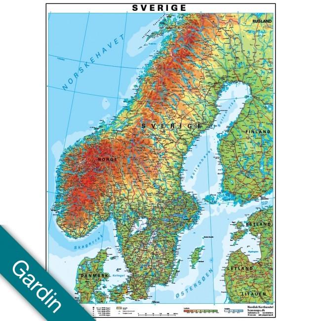 Sverige Gardin Vaegkort Nordisk Korthandel Nordisk Korthandel