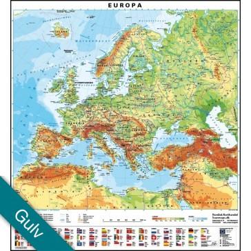 Europa med flag  Gulvlaminering