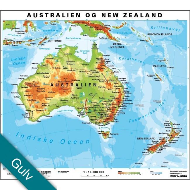 Australien New Zealand Gulvlaminering Australien Vaegkort