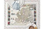 Europa år 1645 Dækkeserviet