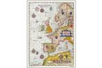 Søkort over Europa - år 1586