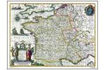 Frankrig - vinkort - år 1636