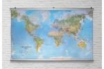 Verden på slidstærk dug med plakatskinner