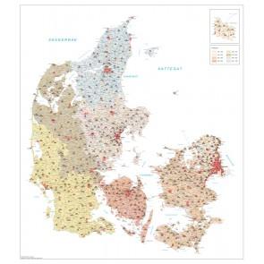 Danmark Postnummerkort