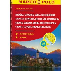 Croatia, Slovenia, Bosnia and Hercegovina Road Atlas