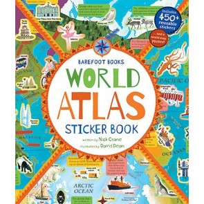 World Atlas Sticker Book incl. 450 reusable stickers