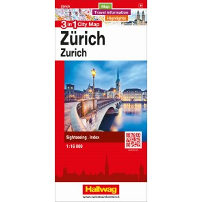 Zürich 3 in 1 City Map